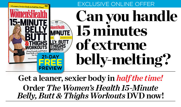 Women's Health 15-Minute Belly Butt & Thighs Workout DVD Review.  http://www.wh15minuteworkoutdvd.com/wh15minuteworkoutdvd/vid/whdvdvide