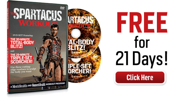 Men's Health and Women's Health - The Spartacus Workout DVD Review